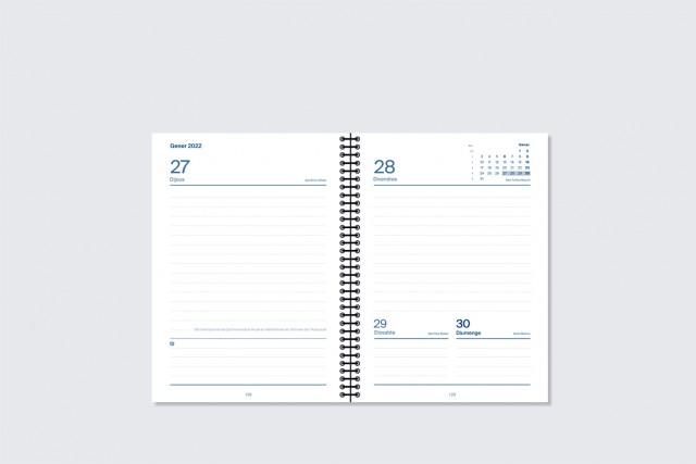 agenda universal dia pàgina additio per secundària. Interior