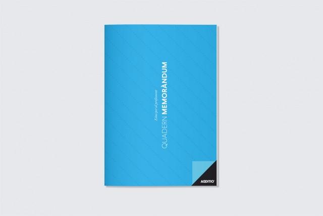 quadern memorandum per professorat additio blau