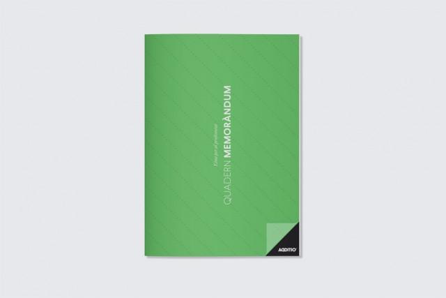 quadern memorandum per professorat additio verd