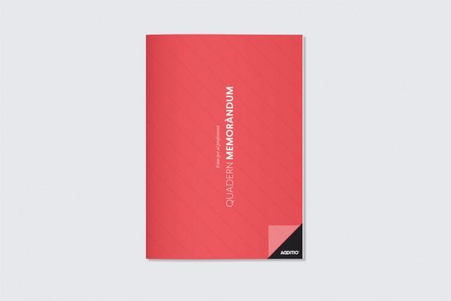 quadern memorandum per professorat additio vermell