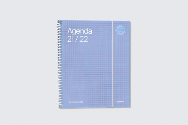 agenda universal setmana vista additio color blau clar