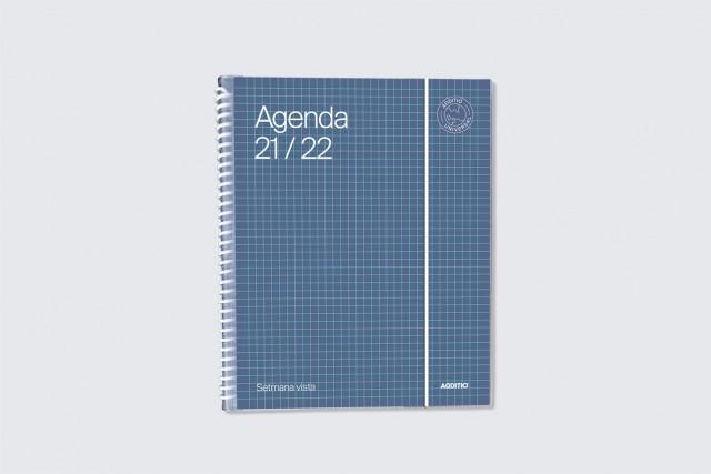 agenda universal setmana vista additio color blau fosc