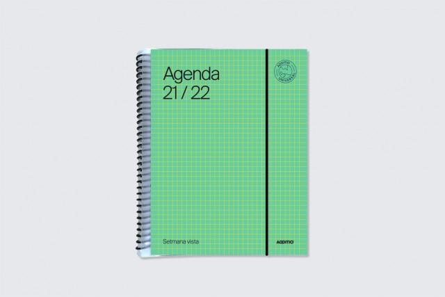 agenda universal setmana vista additio color verd
