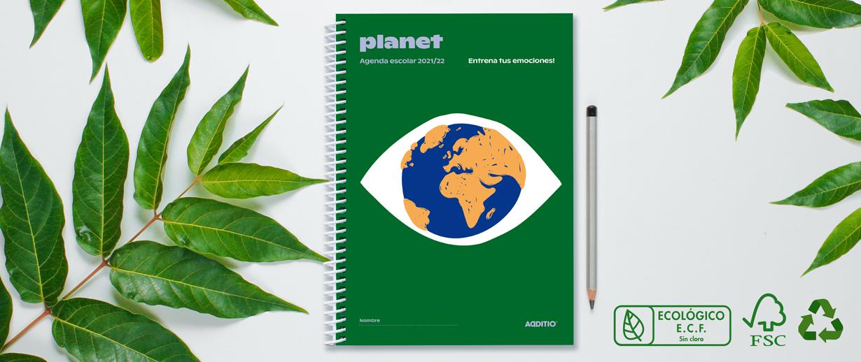 Reciclaje de los artículos additio, agenda planet